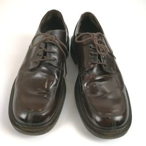 J. Crew Brown Patent Leather Oxfords